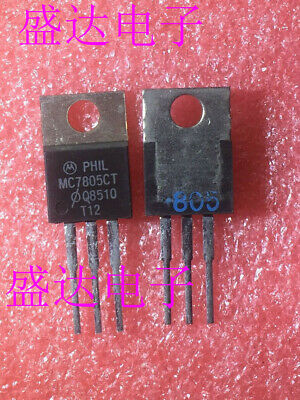5PC MC7805CT TO-220 5V three-terminal regulator triode 7805CT