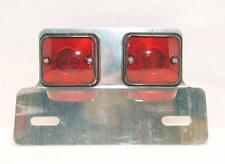 CLASSIC CUSTOM CAFE RACER SPECIAL REAR STOP TAIL TWIN SQUARE LIGHT LAMP 6V / 12V