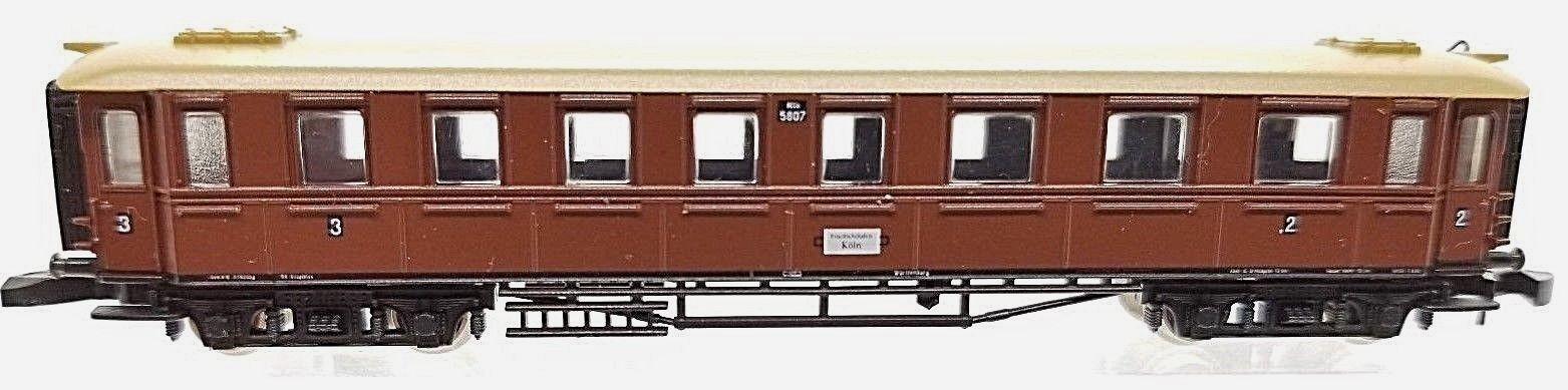 Z Scale Marklin 87950 Württemberg Express passenger car 2nd/3rd class
