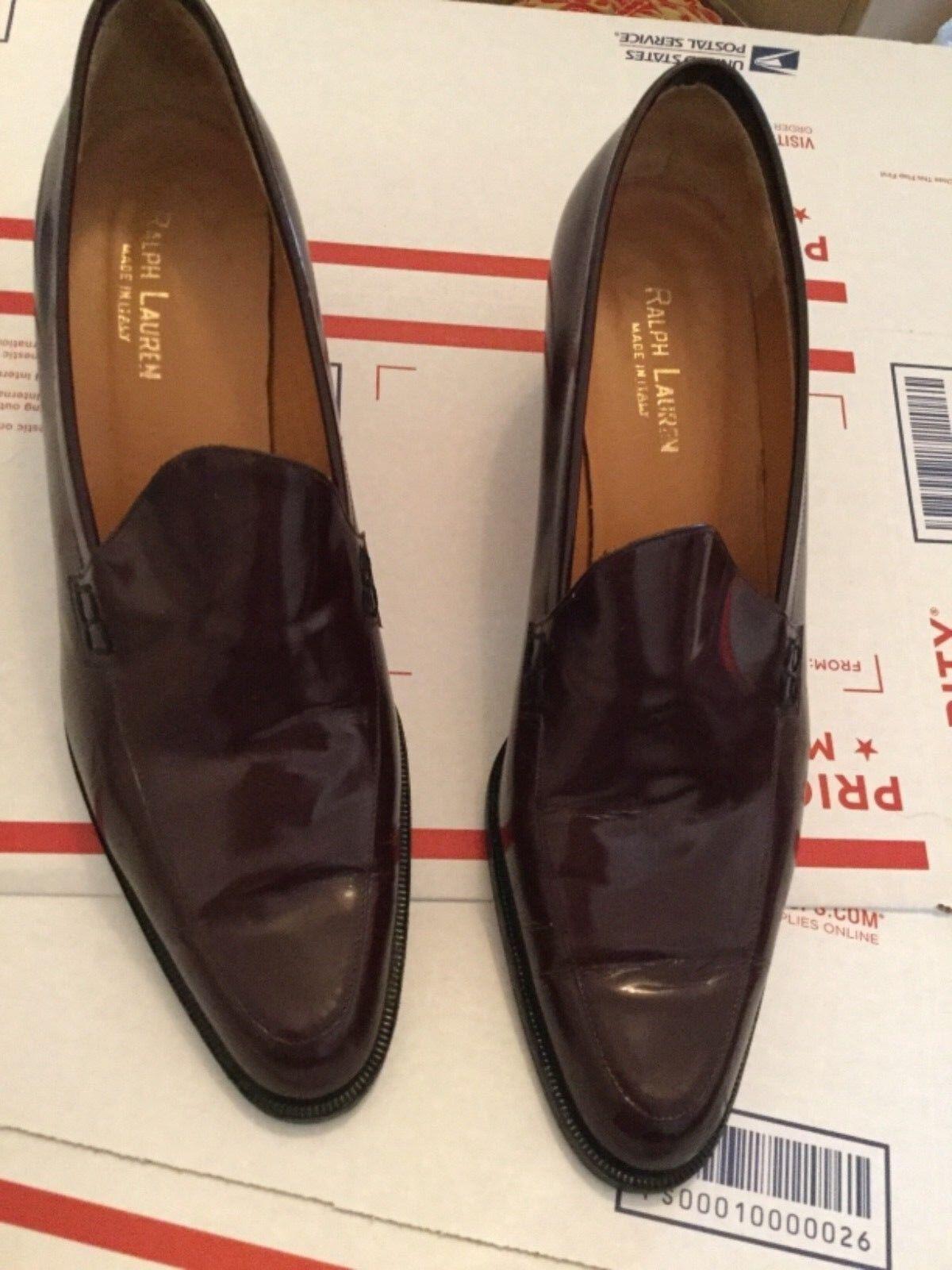 EXC COND Ralph Lauren Made in  damen's Slipon Heeled Loafer - 8.5M