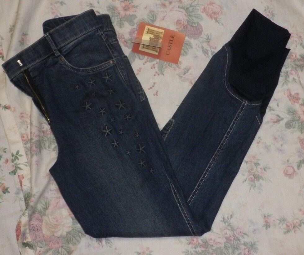 Ladies bluee Denim Breeches - Star Design - Various Sizes Available