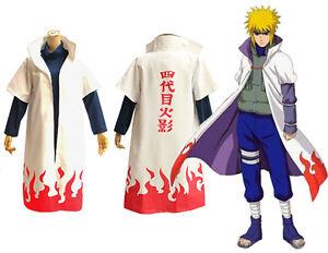 Naruto Minato Namikaze Mantel Umhang Anime Cosplay Kostüm Vierter ...