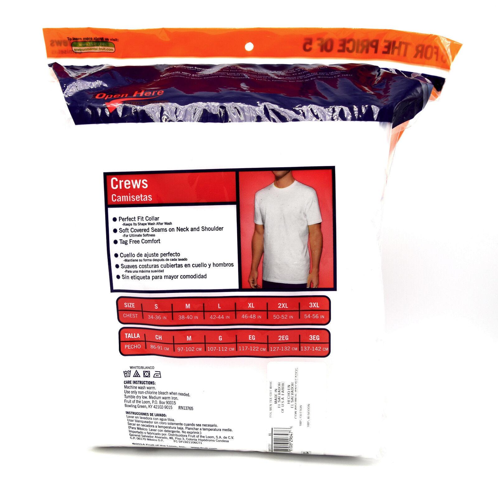 24 Bianco XL 117-122cm 117-122cm 117-122cm T-Shirt a Girocollo Fruit Of The Loom senza Etichetta Eg 81eada