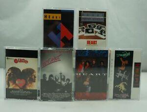 HEART Annie Private Passionworks Self Bad Brigade Vintage Rock Cassette Tape x 6