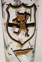 VINTAGE THE CATS GEELONG PREMIERSHIP FOOTBALL CLUB GLASS AFL VFL SWANKY SWIG