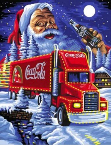Christmas Coca Cola Red Truck Santa Claus