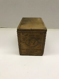 Old Wood Shipping Crate Box Sliding Lid E-z Anti Borax Compound Co Antiques 1902 Other Architectural Antiques