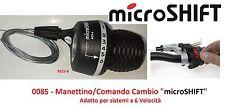 """Manettino/Comando Cambio DX """"microSHIFT"""" 6 Velocità per Bici 20-24-26 Cruiser"""