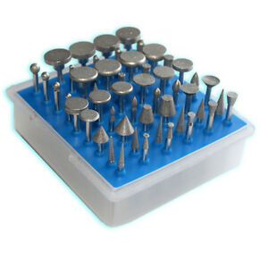 Details about 50 pcs Kit, Diamond Coated Rotary Burrs, Large Head Style,  Fine Grit 300