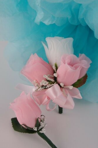 2pc set *PICK Rose COLOR*Corsage/&Boutonniere wedding//groom//prom//party//events