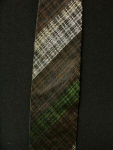 VINTAGE-1950-039-S-1960-039-S-SILK-CANTINI-LABEL-BLACK-BROWN-amp-GREEN-TIE
