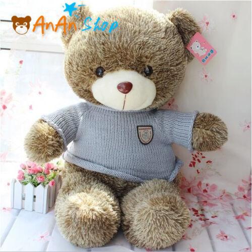 "Cute 23/"" 60cm Plush Teddy Bear Nice Sweater Stuffed Animal Soft Toy Kids Gift"