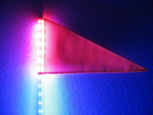 Orange Amber 2Pcs 6 Feet Quick Release ATV UTV LED Light Whip with Flag