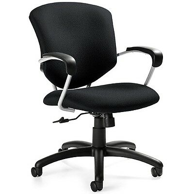 Terrific Global Supra 5331 4 Tilter Mid Back Office Chair With Fixed Arms Black Fabric Ebay Ocoug Best Dining Table And Chair Ideas Images Ocougorg