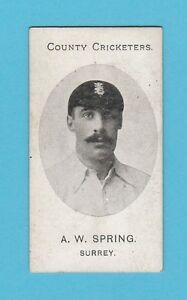 CRICKET-TADDY-amp-CO-VERY-RARE-CRICKET-CARD-SPRING-OF-SURREY-1907
