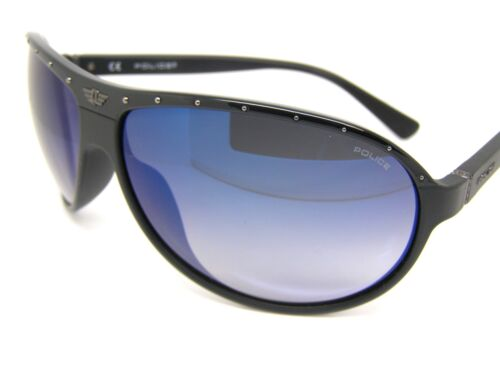 Police Stunning Cool Sunglasses S1857 7V4B Blue Mirror Black Screw 2 Fashion New