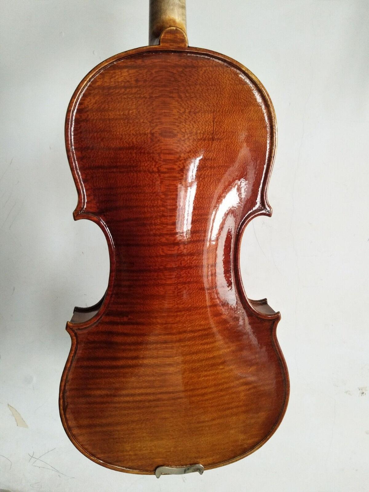 Meister 4 4 violine Amati Modell schön flammte Ahornrücksprung top No2