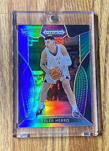 2019-20-Tyler-Herro-Panini-Draft-Pick-Purple-Green-Silver-Prizm-121-199-Heat