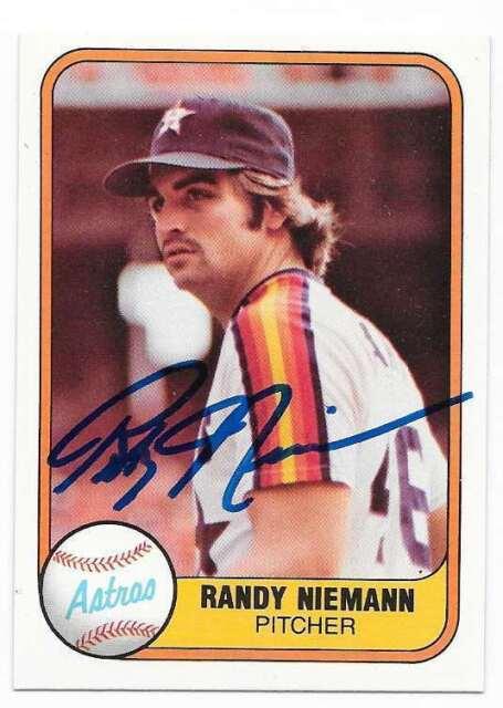 RANDY NIEMANN 1981 FLEER AUTOGRAPHED SIGNED # 77 ASTROS
