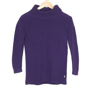 Minti Melbourne Womens Purple Turtleneck Sweater Size 8 100% Cotton