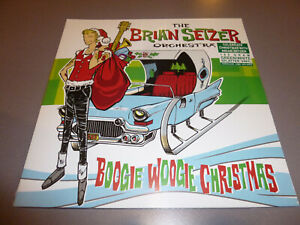 THE-BRIAN-SETZER-ORCHESTRA-Boogie-Woogie-Christ-LP-ltd-green-white-Vinyl