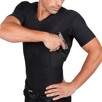 Undertech Undercover Men's Concealed Carry V-neck Tee 4002 Sporting Goods