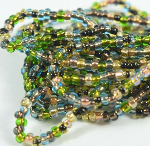 "Czech Glass Seed Beads Mixture Size 10//0 /"" COLOR LINED EARTH TONE  /"" 1 Hank"