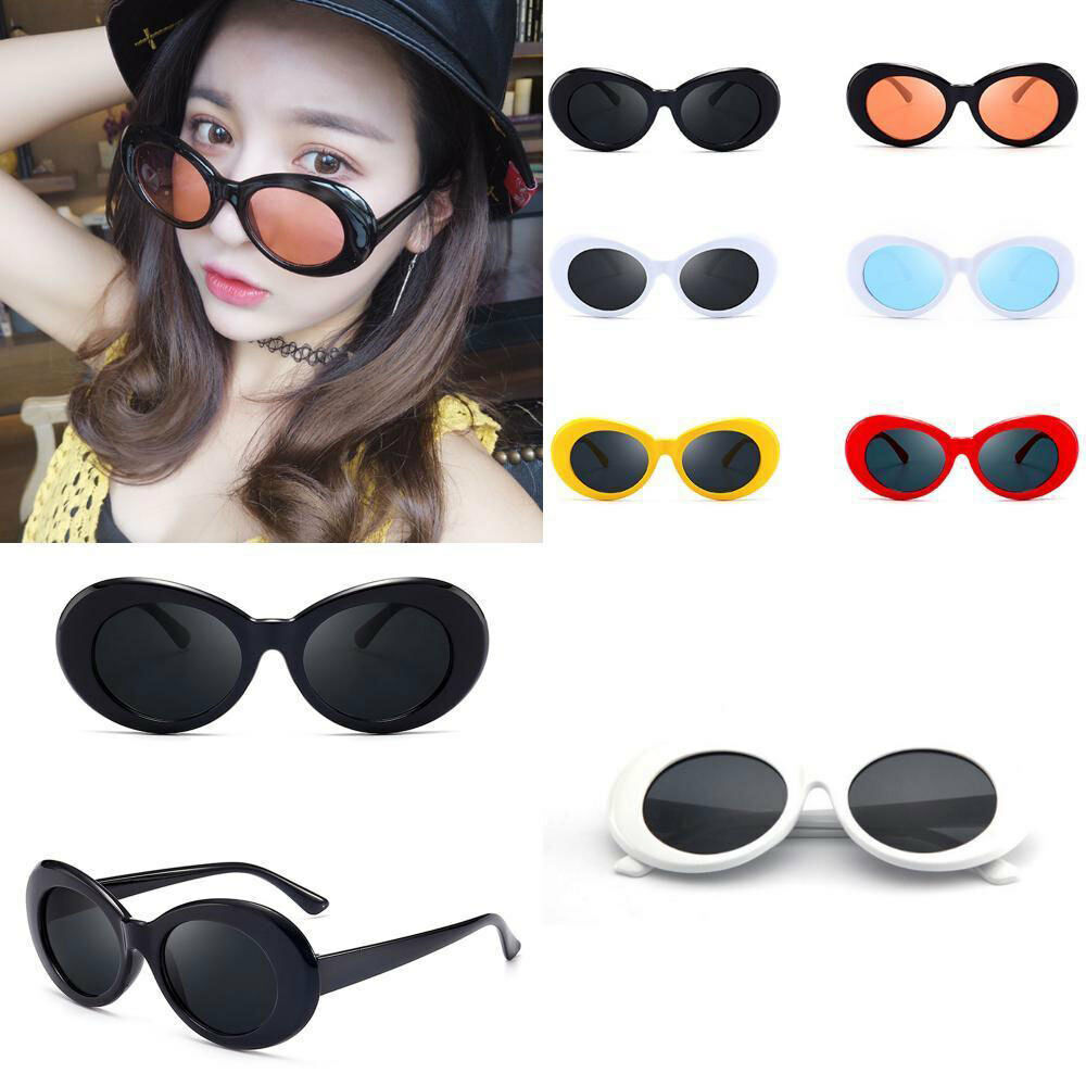 49d6b34bf109 1 of 5FREE Shipping Retro Clout Goggles Unisex Sunglasses Rapper Oval  Shades Grunge Frames Glasses