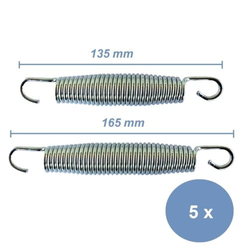 Trampolin Sprungfedern 5 Stück Trampolinfedern Federn 13,5 cm oder 16,5 cm