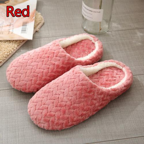 Unisex Winter Warm Slippers Casual Plush Men Women Indoor Home Bedroom Shoes