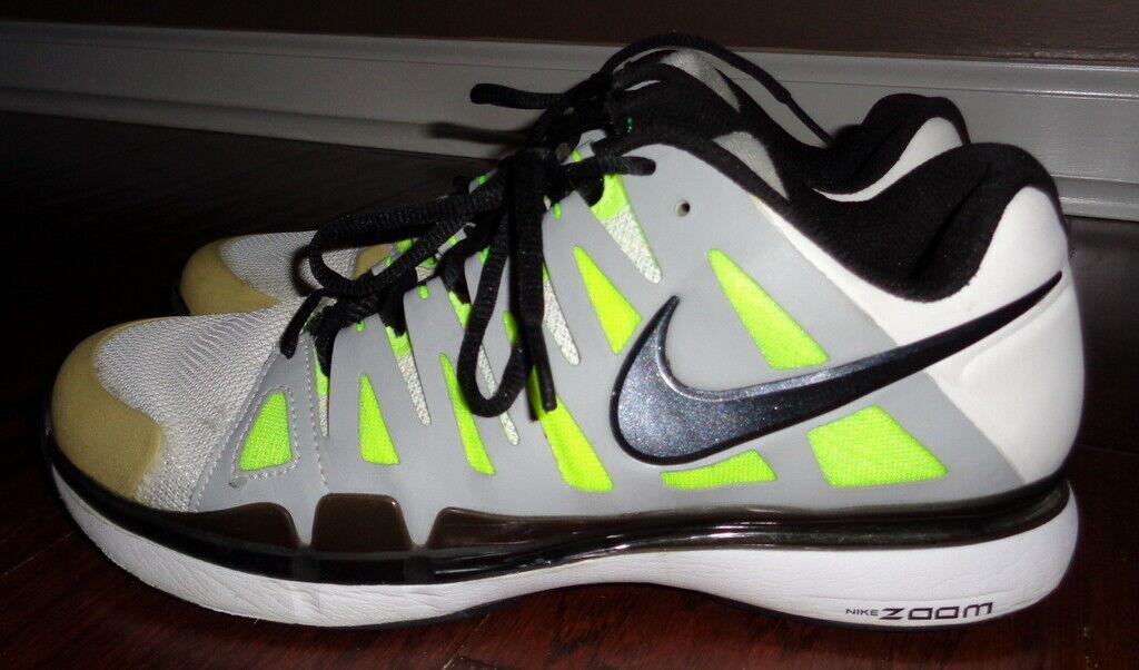 Nike Federer ZOOM VAPOR 9 TOUR Tennis shoes 488000-100  Mens Size 9   HTF