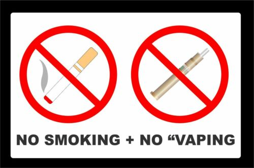 Pack Of NO SMOKING NO E-CIGS NO VAPING Stickers For Cafe Taxi Public Building 4