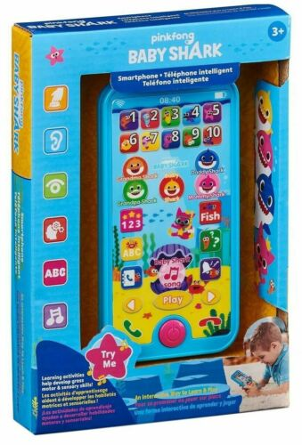 Pinkfong Baby Shark *SMARTPHONE* Interactive Learn /& Play Toy Song Sounds 2019