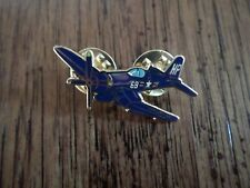 F-18 Fighter Plane Military Gilt Plated Lapel Pin Badge