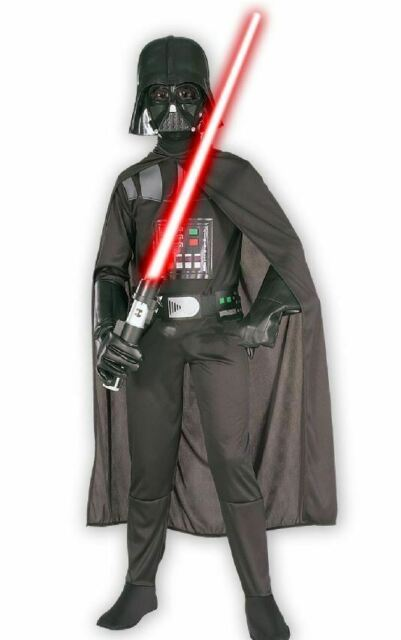 Darth Vader Boys Deluxe Fancy Dress Costume NEW Official Star Wars