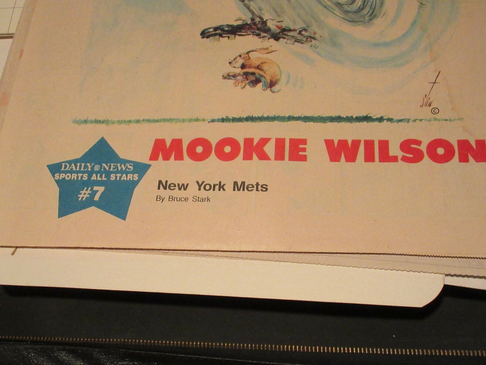 Mookie Wilson , New York Sunday News Sports All-Stars #