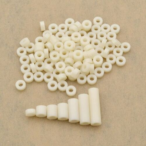 Plastic ABS Non-Threaded Spacer Washer Round Standoff For M3//M4//M5//M6//M8 Screw