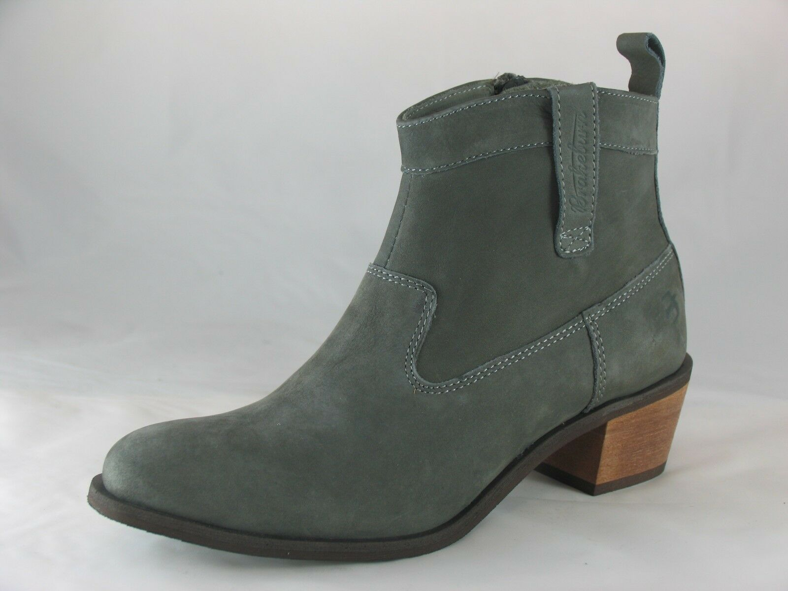 Women's Brakeburn 'Cowboy Boot' Grey Leather Ankle Boots UK 3-8