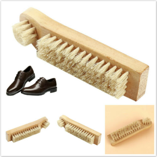 Smooth Leather Shoes Cleaning Wood Bristle Stiletto Shoes Brush Brush Tools Z