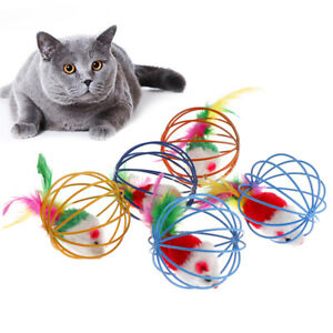 Pet-Animals-Plush-Toy-Cat-Toys-Ball-Mouse-Feather-Funny-Playing-Home-amp-KitchWFI