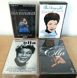 Ella Fitzgerald Cassettes Bundle Of 4 Cassettes Retro Music Collectable