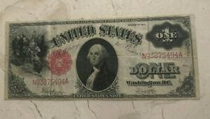 1917-1-Legal-Tender-Note-Bill-Currency-Some-Creases