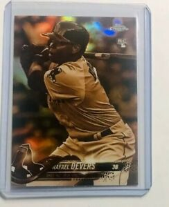 Rafael-Devers-Rookie-2018-Topps-Chrome-Sepia-Refractor-RC-SP-Boston-Red-Sox-RC