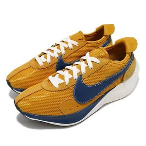 best website 615a1 7d3f0 Image is loading Nike-Moon-Racer-QS-Yellow-Ochre-Gym-Blue-