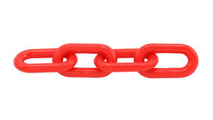 """1"""" (4MM) Plastic Chain Red 250'/Bag"""