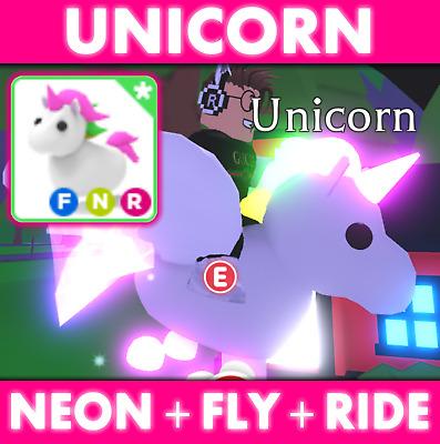 Adopt Me Roblox Unicorn Neon Fly Ride Best Price