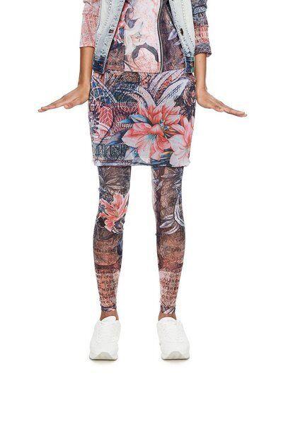 Desigual women's legging with skirt sheer Large