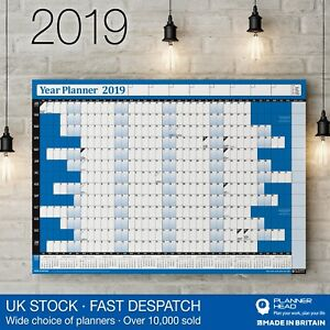 image is loading 2019 year planner wall chart with holidays amp