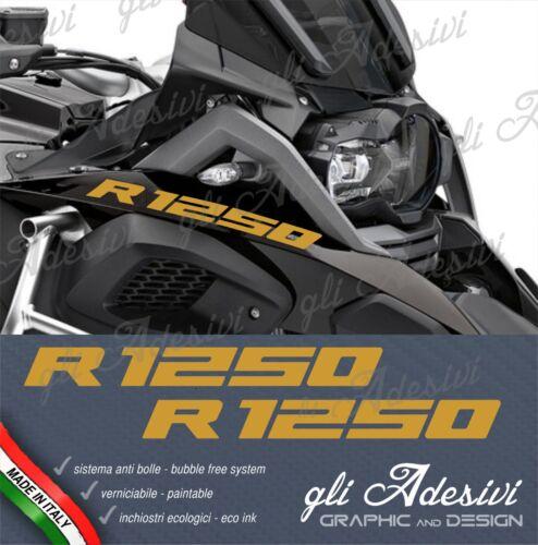 2 Adesivi Serbatoio Moto BMW R 1250 gs Adventure 28 x 3 cm Oro