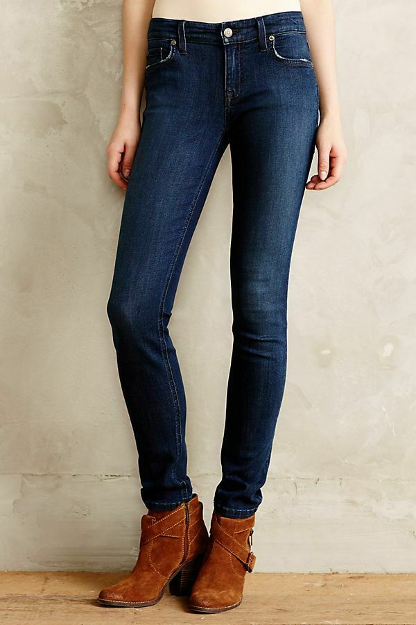 Anthropologie Level 99 Womens Size 31 Mid Rise Liza Skinny Jeans Stretch NEW